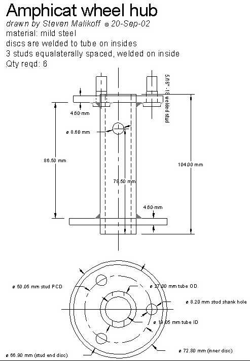 Amphicat axle hub