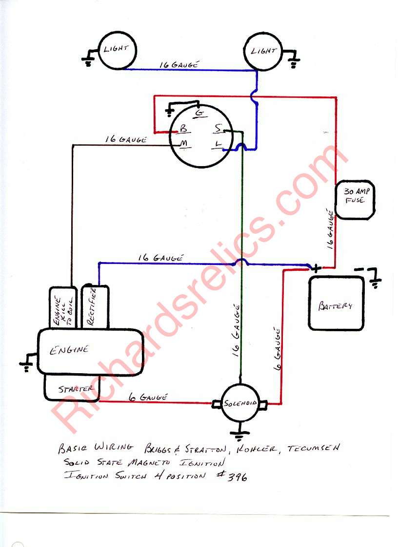 Cub Cadet Wiring Diagram 23 Hp Vanguard For Library Key Switch Briggs And Stratton Ignition